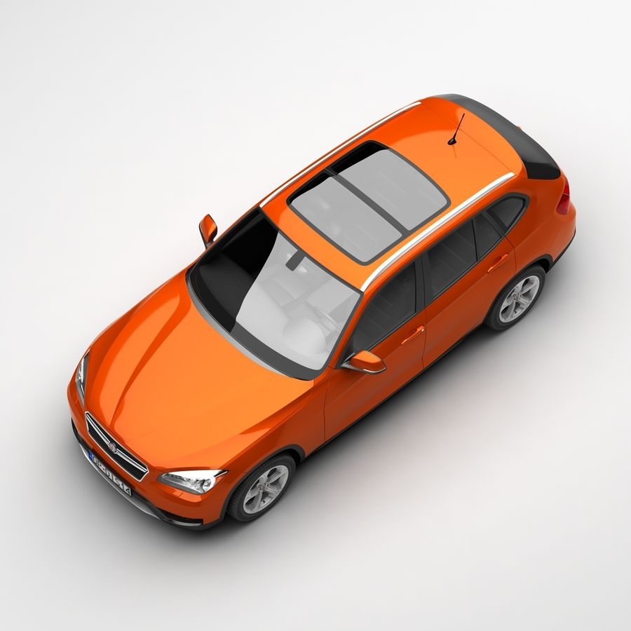 Samochód SUV royalty-free 3d model - Preview no. 8