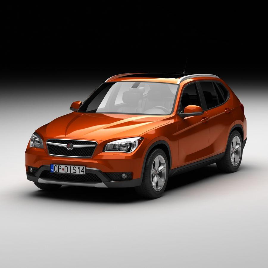 Samochód SUV royalty-free 3d model - Preview no. 2