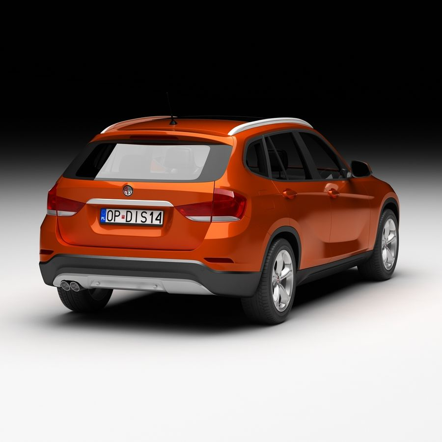 Samochód SUV royalty-free 3d model - Preview no. 3