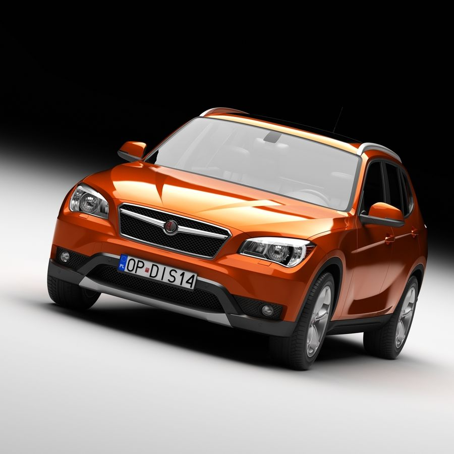 Samochód SUV royalty-free 3d model - Preview no. 1