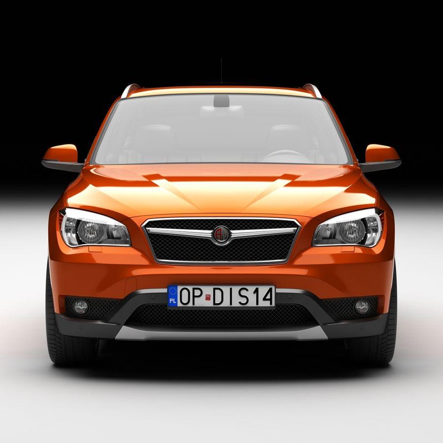 Samochód SUV royalty-free 3d model - Preview no. 4