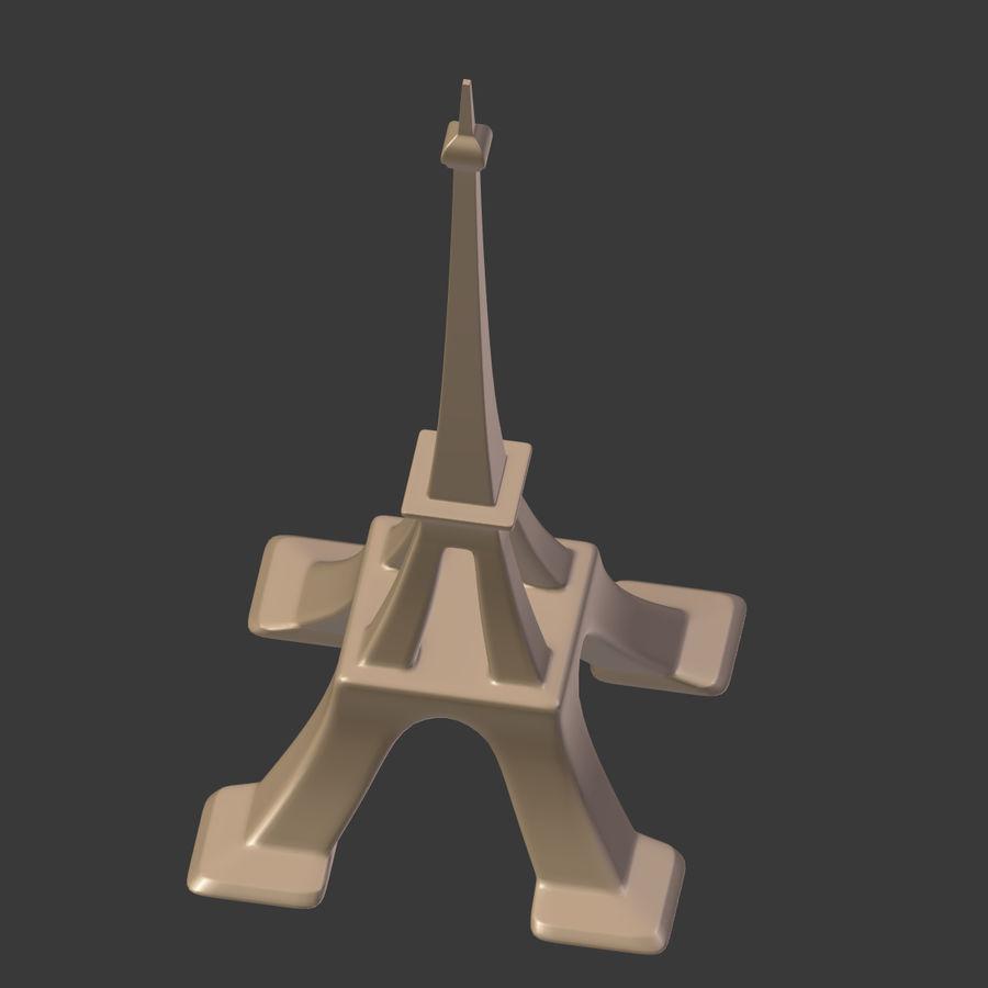Torre Eiffel em poli baixo royalty-free 3d model - Preview no. 17