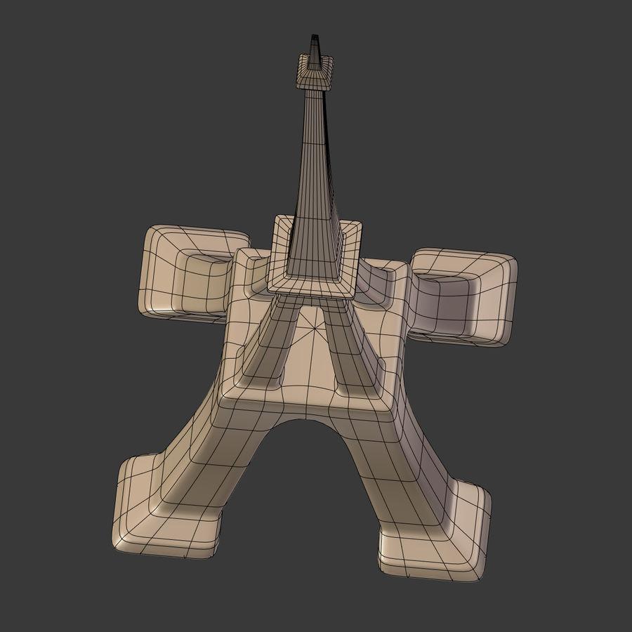 Torre Eiffel em poli baixo royalty-free 3d model - Preview no. 22