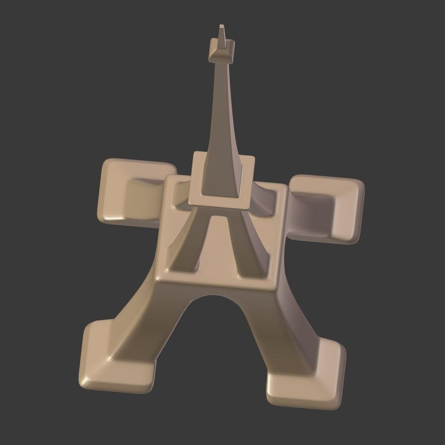 Torre Eiffel em poli baixo royalty-free 3d model - Preview no. 21