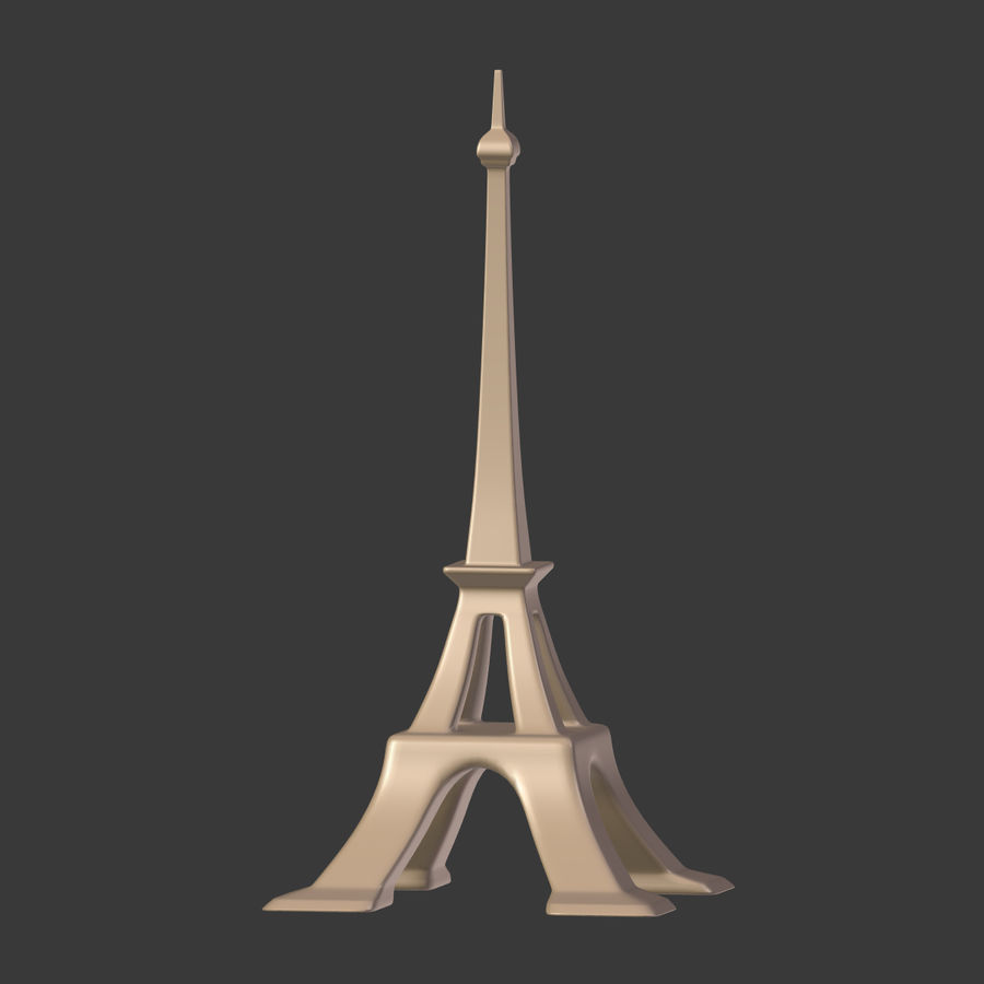 Torre Eiffel em poli baixo royalty-free 3d model - Preview no. 15
