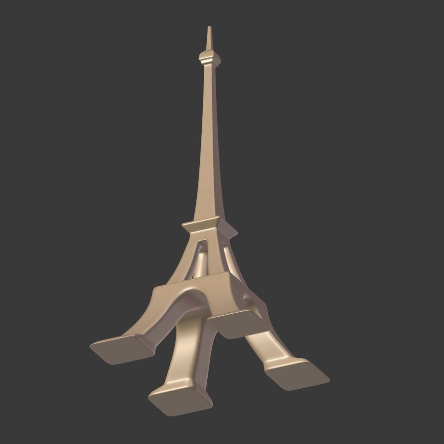 Torre Eiffel em poli baixo royalty-free 3d model - Preview no. 19