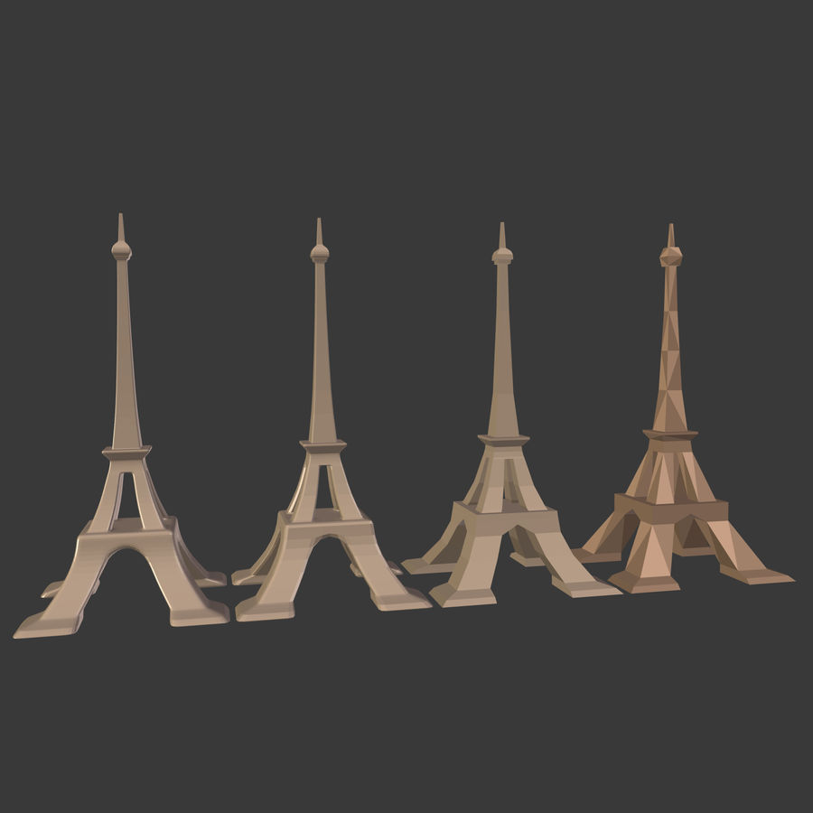 Torre Eiffel em poli baixo royalty-free 3d model - Preview no. 23