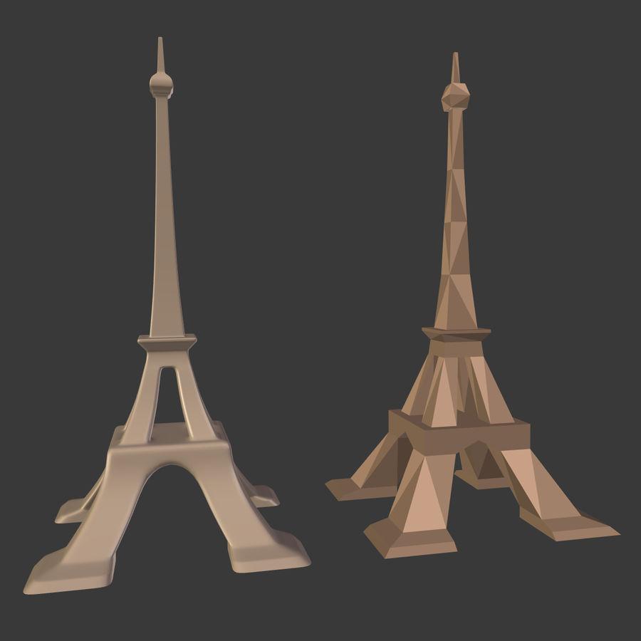 Torre Eiffel em poli baixo royalty-free 3d model - Preview no. 2