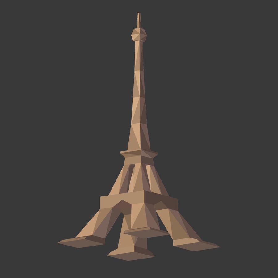 Torre Eiffel em poli baixo royalty-free 3d model - Preview no. 7