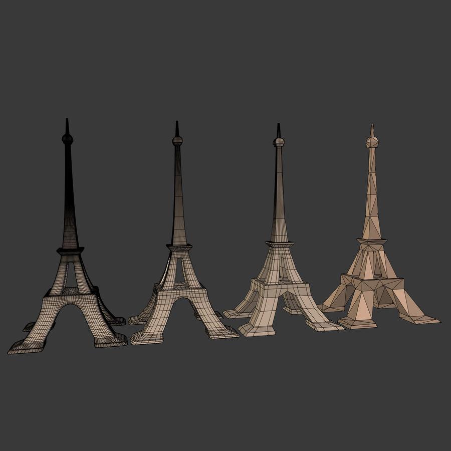 Torre Eiffel em poli baixo royalty-free 3d model - Preview no. 24