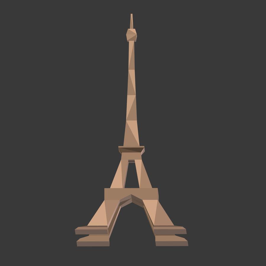 Torre Eiffel em poli baixo royalty-free 3d model - Preview no. 11