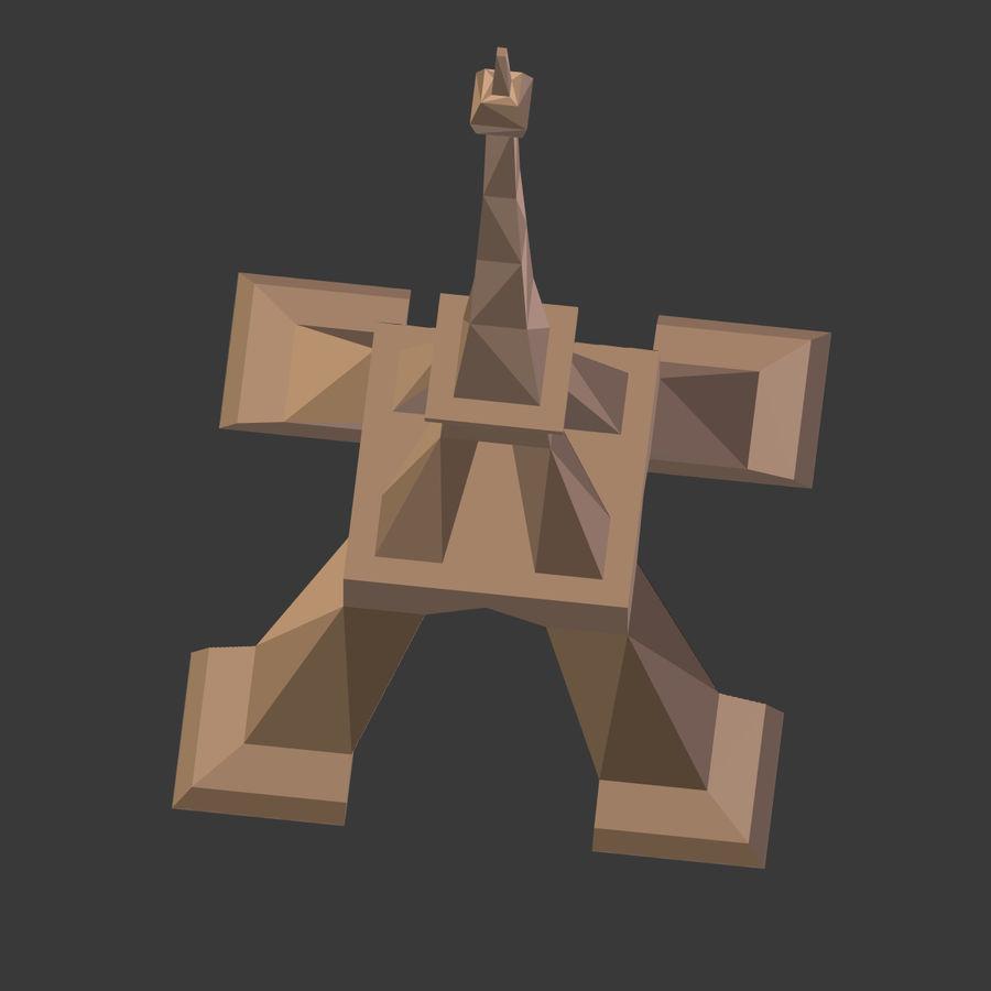 Torre Eiffel em poli baixo royalty-free 3d model - Preview no. 13