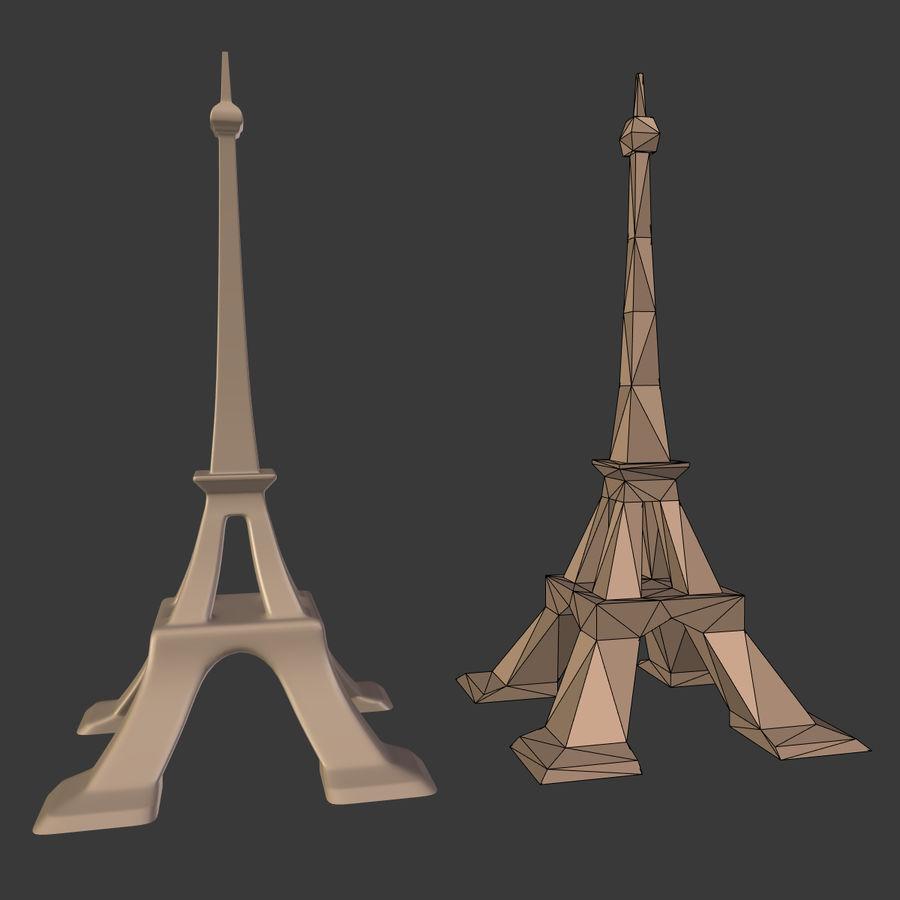 Torre Eiffel em poli baixo royalty-free 3d model - Preview no. 3