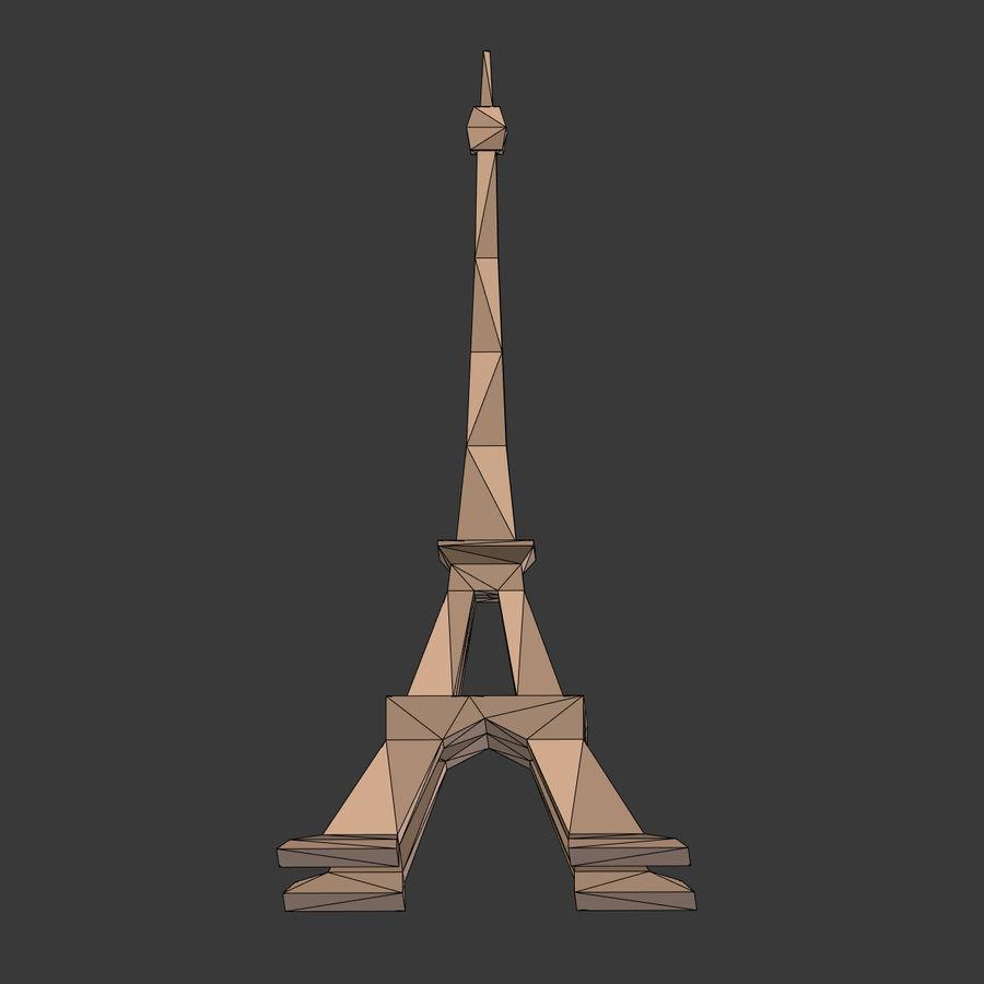 Torre Eiffel em poli baixo royalty-free 3d model - Preview no. 12