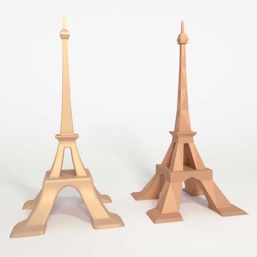 Torre Eiffel em poli baixo royalty-free 3d model - Preview no. 1
