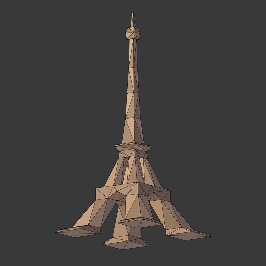 Torre Eiffel em poli baixo royalty-free 3d model - Preview no. 8