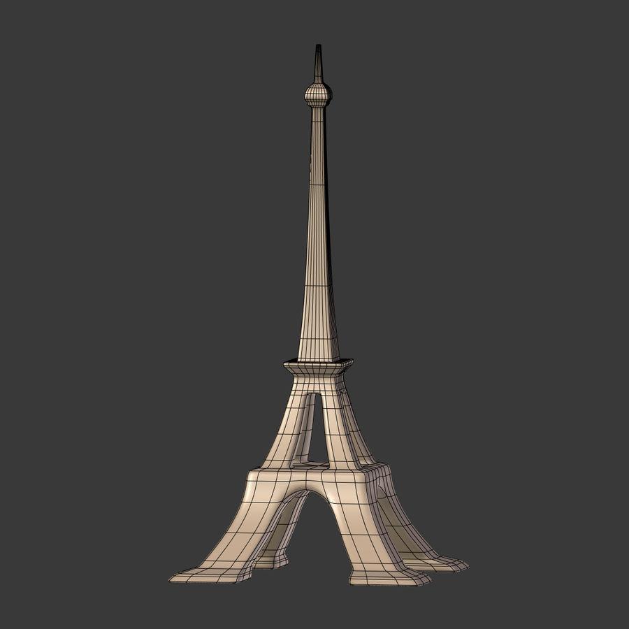 Torre Eiffel em poli baixo royalty-free 3d model - Preview no. 16