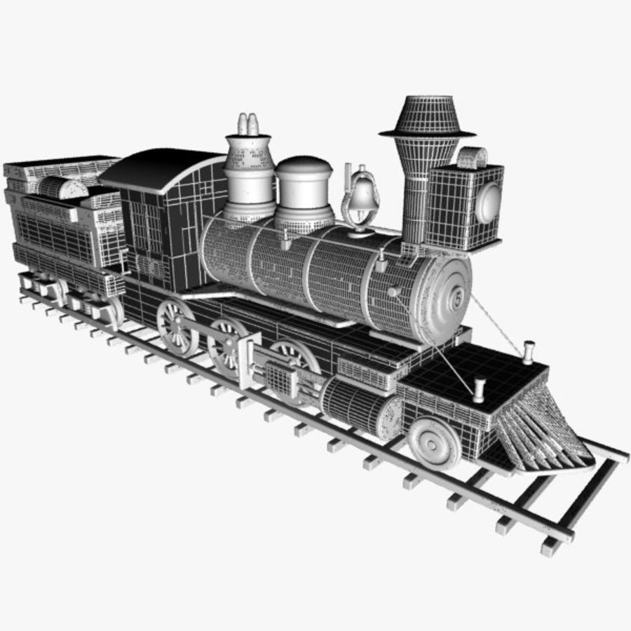 Toon Train royalty-free 3d model - Preview no. 12