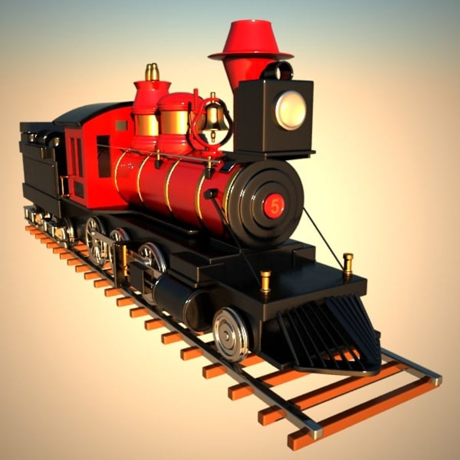 Toon Train royalty-free 3d model - Preview no. 6