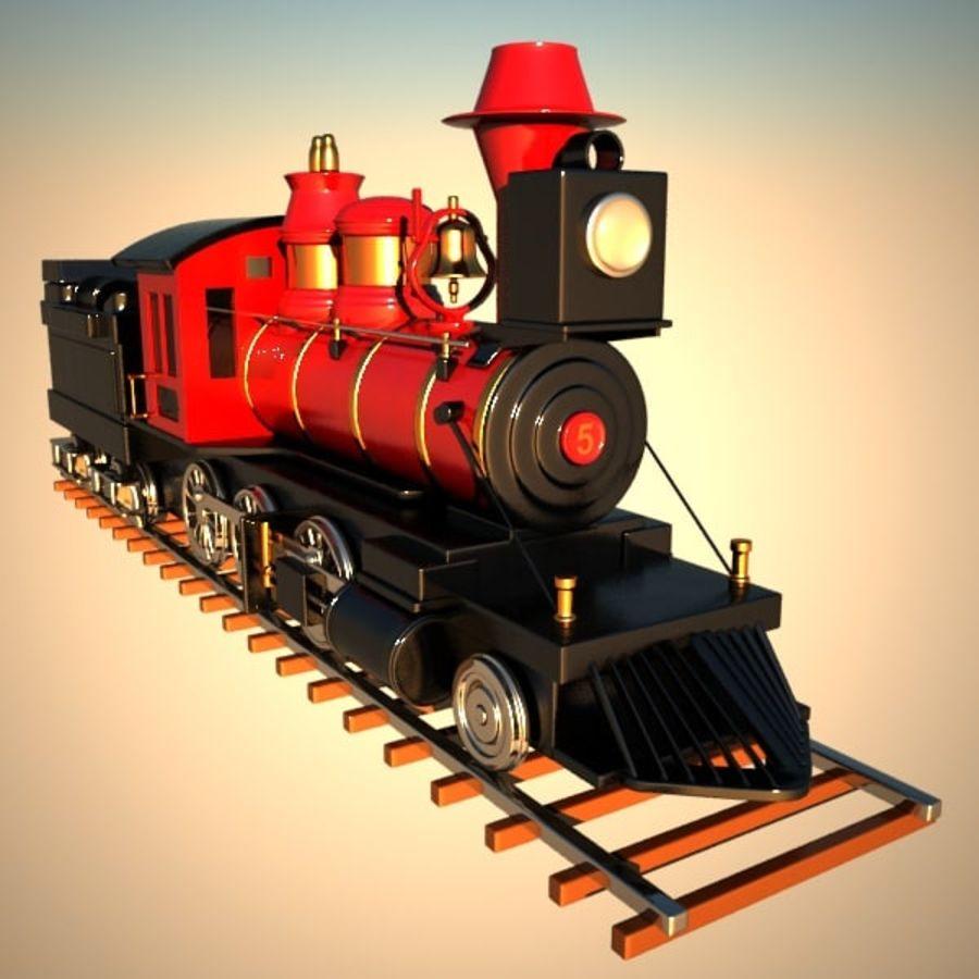 トゥーン電車 royalty-free 3d model - Preview no. 6