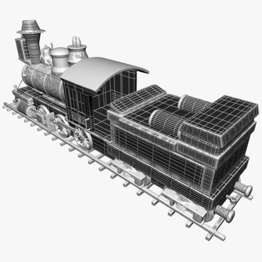 Toon Train royalty-free 3d model - Preview no. 16