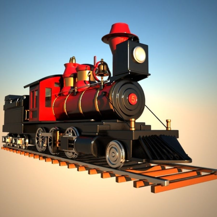 Toon Train royalty-free 3d model - Preview no. 8