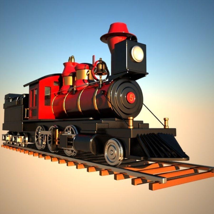 トゥーン電車 royalty-free 3d model - Preview no. 8