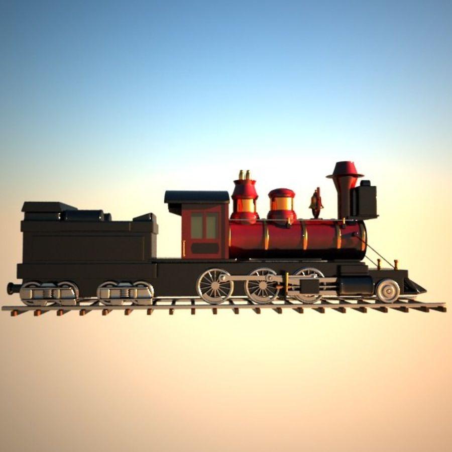 トゥーン電車 royalty-free 3d model - Preview no. 9