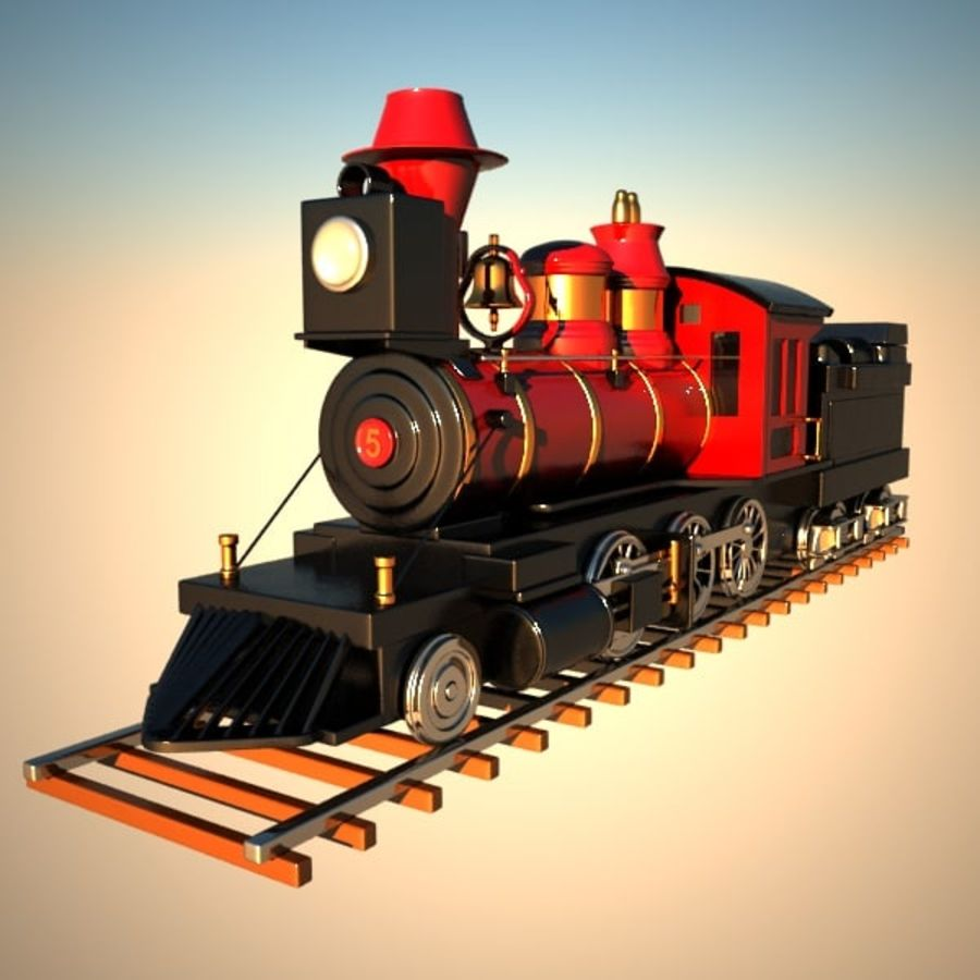 Toon Train royalty-free 3d model - Preview no. 1