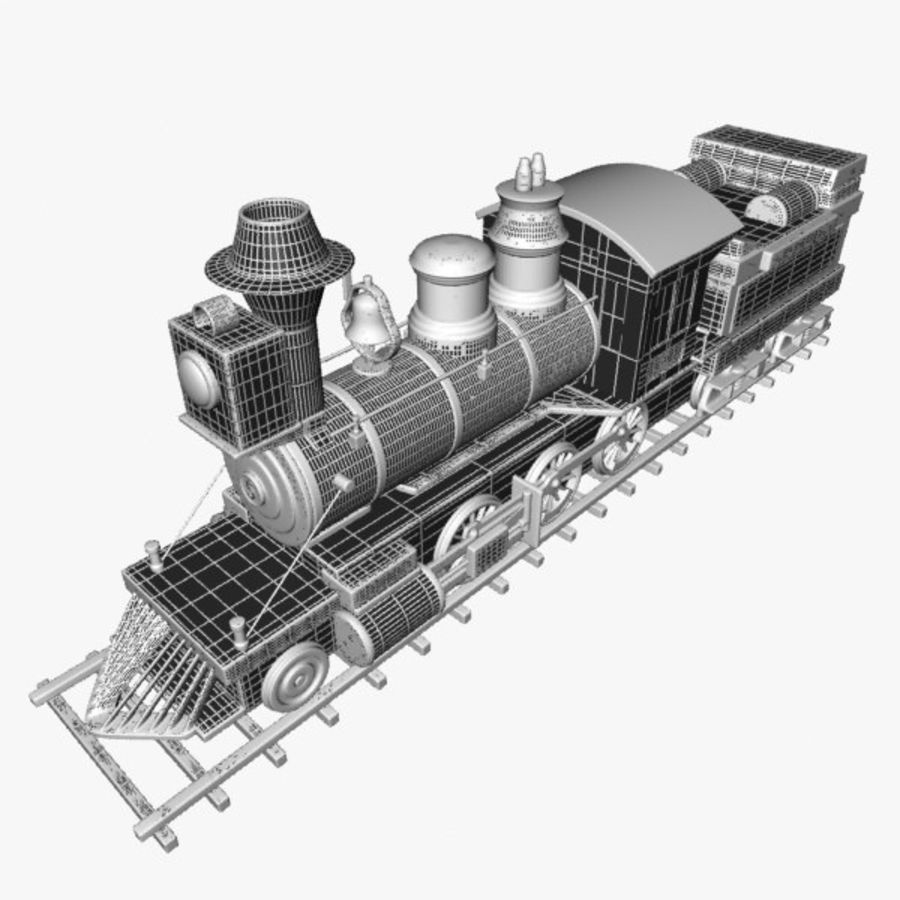 Toon Train royalty-free 3d model - Preview no. 15