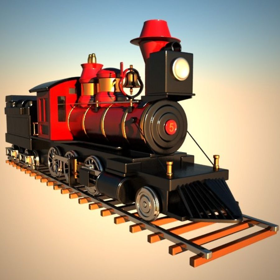 Toon Train royalty-free 3d model - Preview no. 7