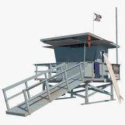 Rettungsschwimmer-Turm 3d model
