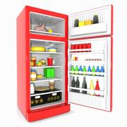Cartoon Refrigerator 3d model