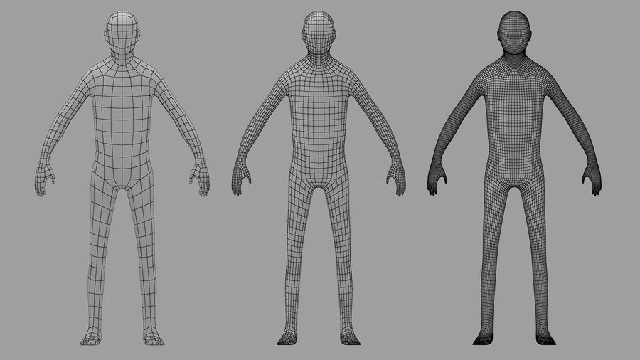 Base Mesh Human royalty-free 3d model - Preview no. 2