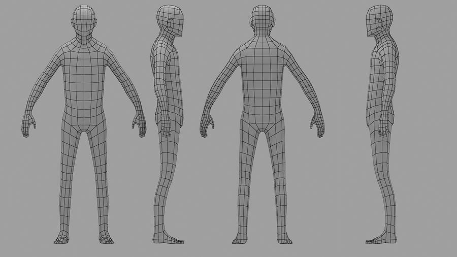 Base Mesh Human royalty-free 3d model - Preview no. 1
