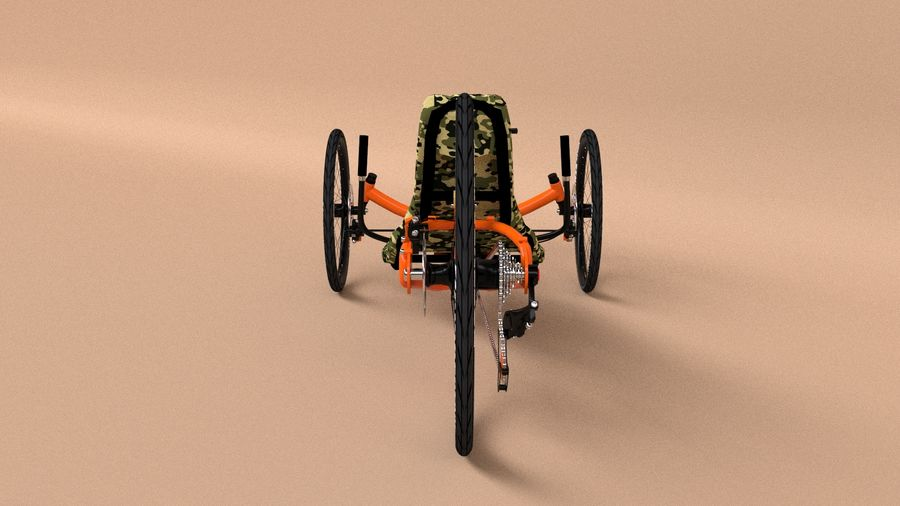 recumbent bicycle royalty-free 3d model - Preview no. 5