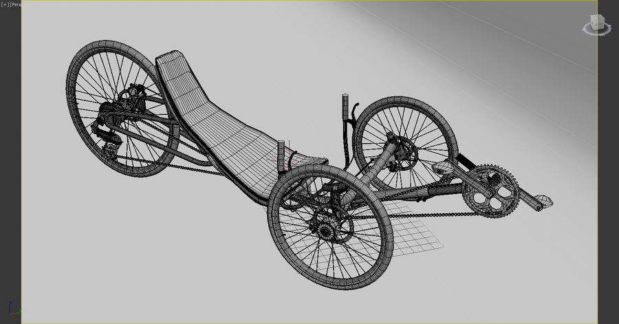 recumbent bicycle royalty-free 3d model - Preview no. 8