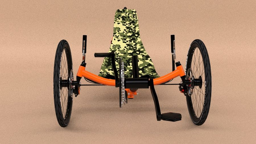 recumbent bicycle royalty-free 3d model - Preview no. 2