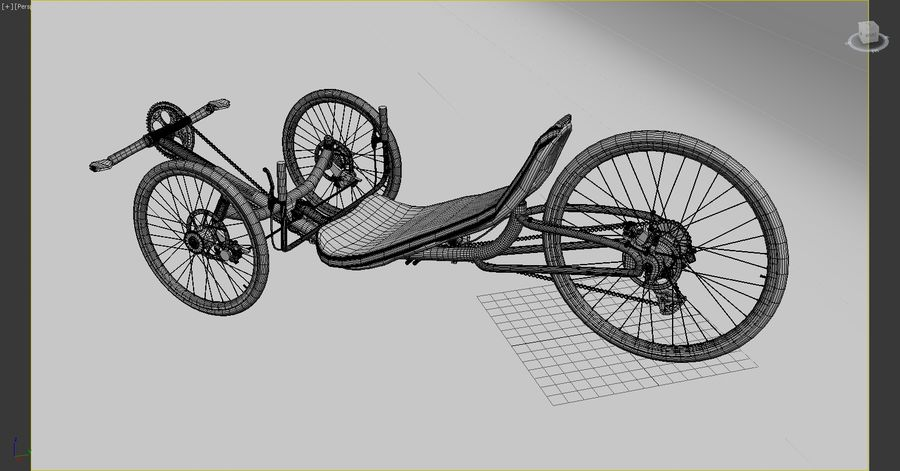 recumbent bicycle royalty-free 3d model - Preview no. 10