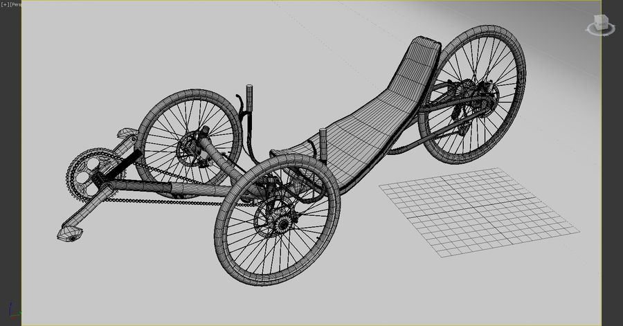 recumbent bicycle royalty-free 3d model - Preview no. 9