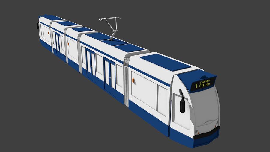 Tram di Amsterdam royalty-free 3d model - Preview no. 1