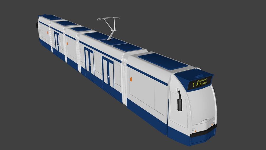 Tram di Amsterdam royalty-free 3d model - Preview no. 2