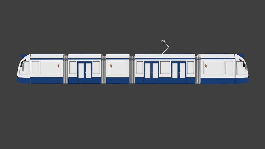 Tram di Amsterdam royalty-free 3d model - Preview no. 3