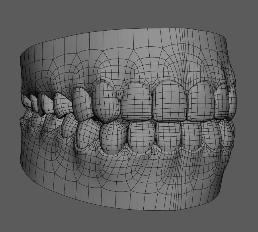 Teeth Cartoon royalty-free 3d model - Preview no. 5