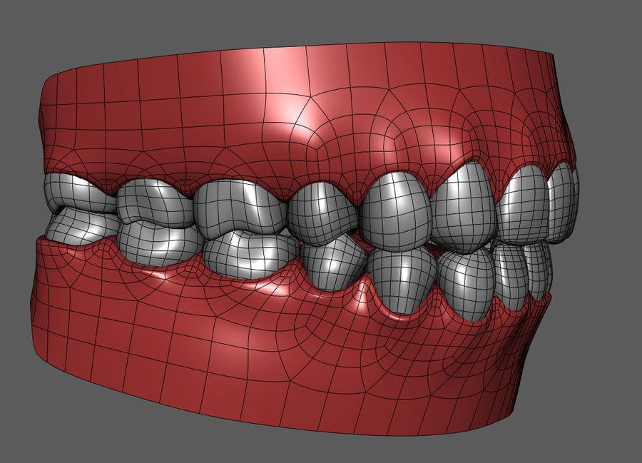 Teeth Cartoon royalty-free 3d model - Preview no. 7