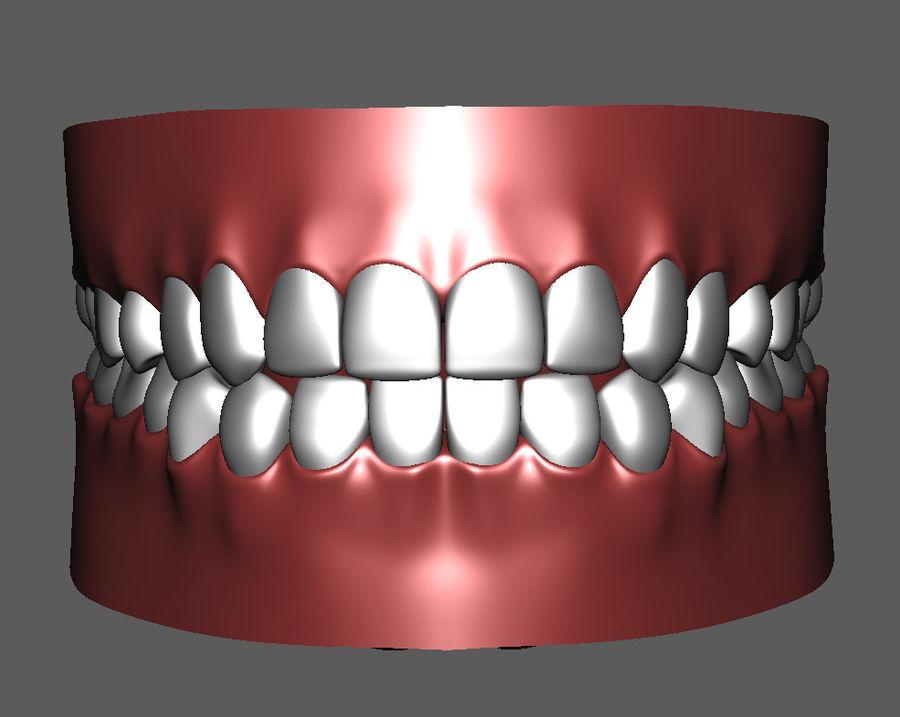 Teeth Cartoon royalty-free 3d model - Preview no. 2