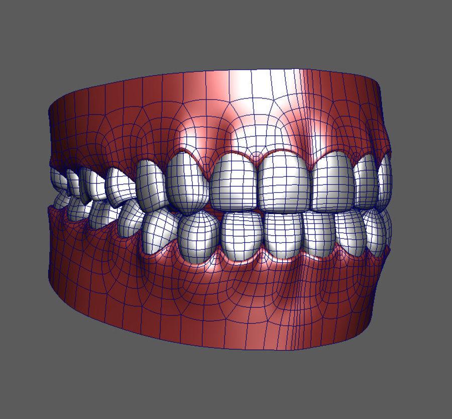 Teeth Cartoon royalty-free 3d model - Preview no. 4