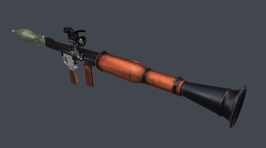 RPG,范围RPG7 royalty-free 3d model - Preview no. 16