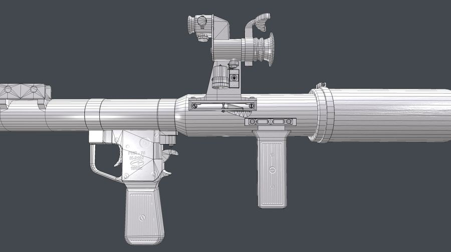 RPG,范围RPG7 royalty-free 3d model - Preview no. 15