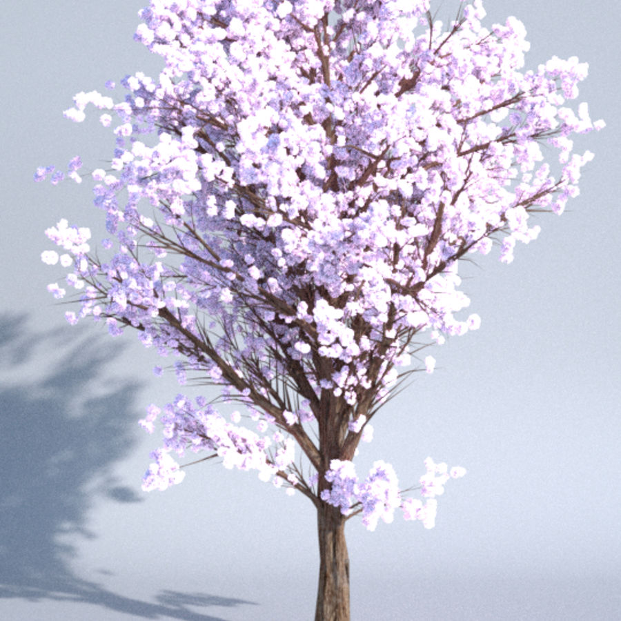 Colorful trees royalty-free 3d model - Preview no. 4